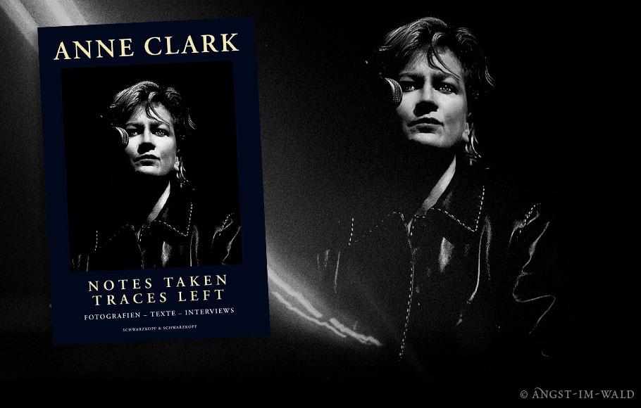 Anne Clark – Notes Taken – Traces Left – Book Cover