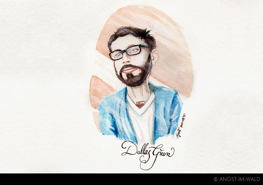 images of Dallas Green Painting singer,alex is on fire,city and colour