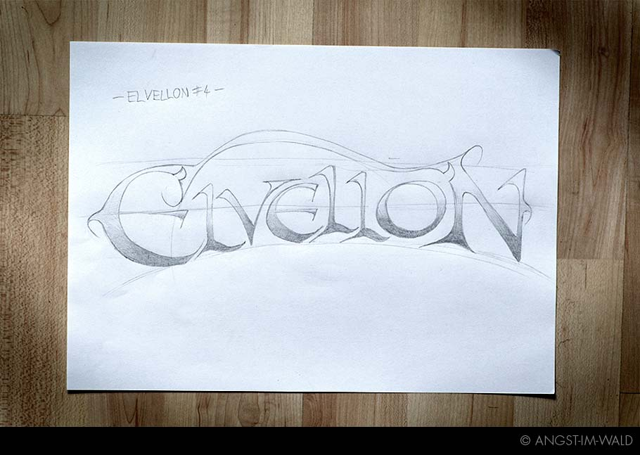 artwork of Elvellon Logo Design
